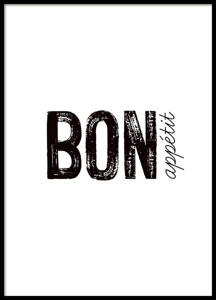 Bon Appetit Poster in the group Prints / Kitchen at Desenio AB (3674)