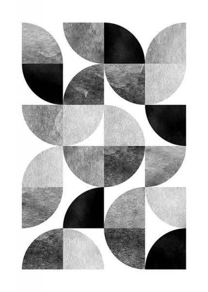 Circle Pattern No 1 Poster in the group Prints / Sizes / 50x70cm | 20x28 at Desenio AB (3698)