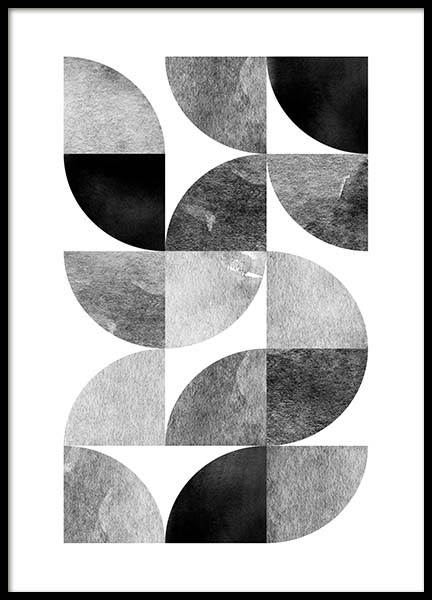 Circle pattern no 2 Poster in the group Prints / Sizes / 50x70cm | 20x28 at Desenio AB (3699)