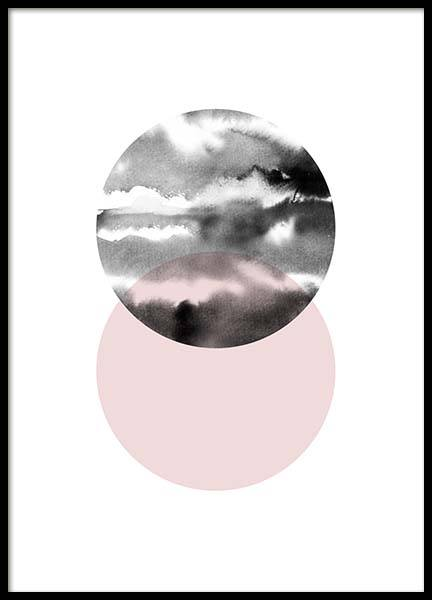 Circle Collage Pink No 1 Poster in the group Prints / Sizes / 50x70cm | 20x28 at Desenio AB (3703)