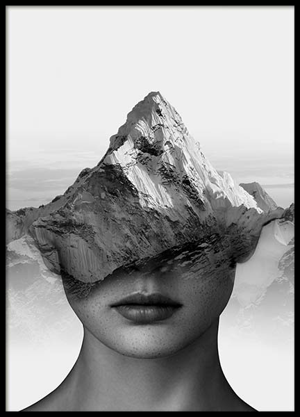 Mountain Thoughts Poster in the group Prints / Black & white at Desenio AB (3710)