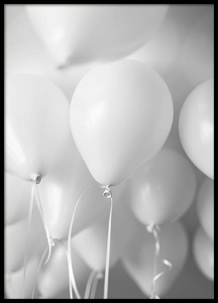 White Balloons Poster in the group Prints / Photographs at Desenio AB (3735)