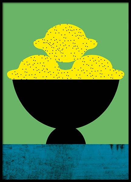 Tutti Frutti Lemon Poster in the group Prints / Art prints at Desenio AB (3760)