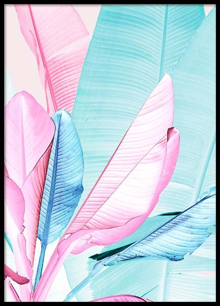 Pastel Neon Three Poster in the group Prints / Floral at Desenio AB (3766)