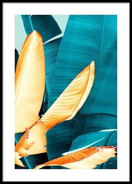Neon Leaves Three Poster in the group Prints / Floral at Desenio AB (3769)