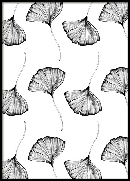 Ginko Leaves Pattern Two Poster in the group Prints / Illustrations at Desenio AB (3771)