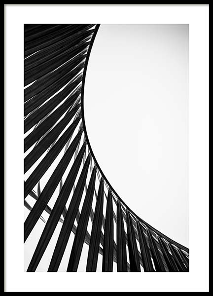 Curved Palm Leaf Poster in the group Prints / Floral at Desenio AB (3780)