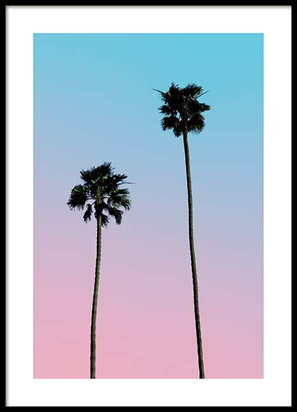Pink Blue Sky Poster in the group Prints / Photographs at Desenio AB (3782)