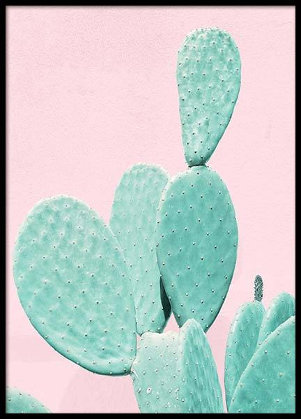 Pastel Cactus No1 Poster in the group Prints / Floral at Desenio AB (3790)