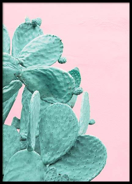 Pastel cactus No4 Poster in the group Prints / Sizes / 50x70cm | 20x28 at Desenio AB (3793)