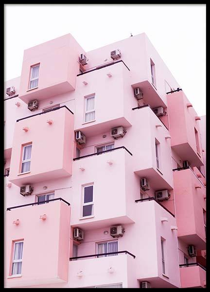 Pink House Poster in the group Prints / Photographs at Desenio AB (3813)