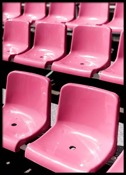Pink Chairs Poster in the group Prints / Photographs at Desenio AB (3817)