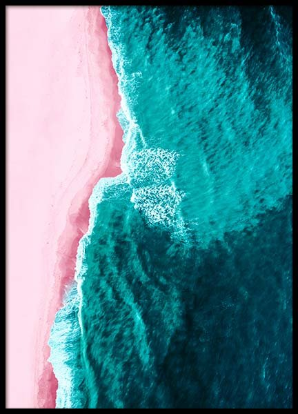 Pink Beach Above Poster in the group Prints / Nature at Desenio AB (3828)
