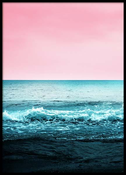 Pink Sky Beach Poster in the group Prints / Floral at Desenio AB (3830)