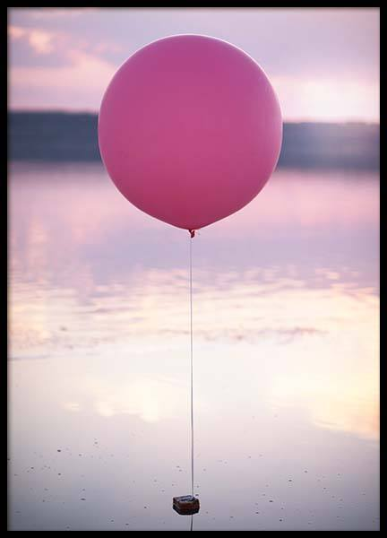 Pink Balloon Poster in the group Prints / Photographs at Desenio AB (3831)