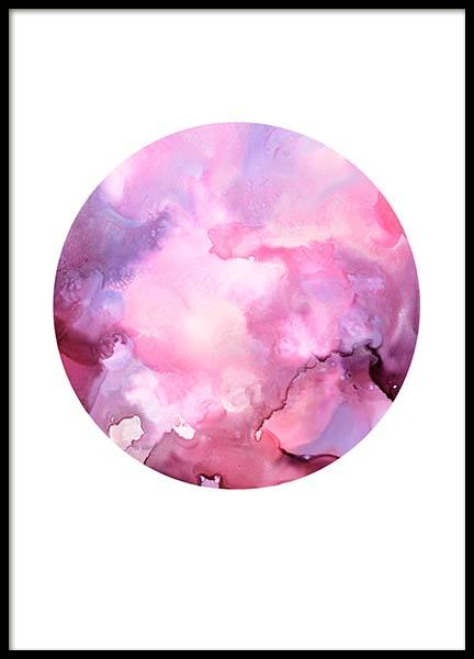Pink Ink Space Poster in the group Prints / Art prints at Desenio AB (3839)