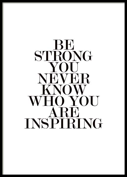 Be Strong Poster in the group Prints / Typography & quotes at Desenio AB (3845)