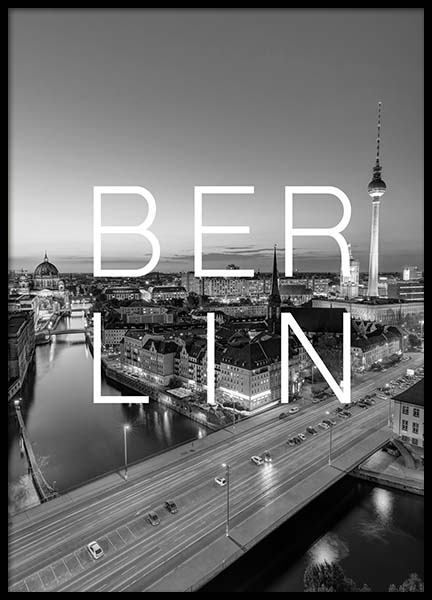 Berlin B&W Poster in the group Prints / Maps & cities at Desenio AB (3848)