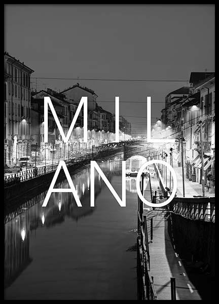 Milano B&W Poster in the group Prints / Black & white at Desenio AB (3850)