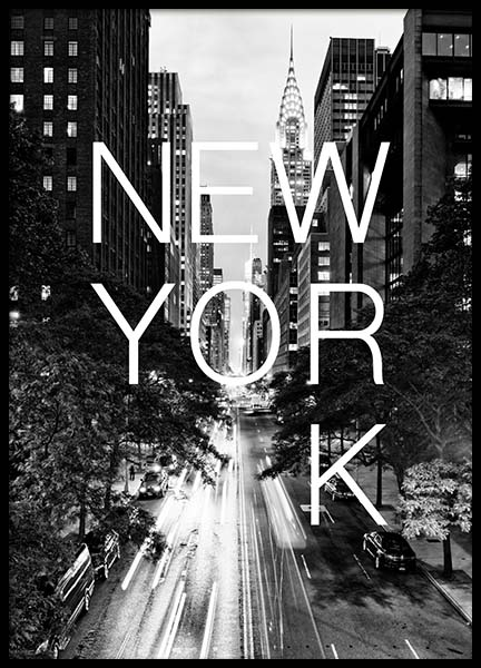 New York B&W Poster in the group Prints / Sizes / 50x70cm | 20x28 at Desenio AB (3851)
