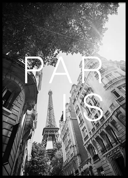 Paris B&W Poster in the group Prints / Black & white at Desenio AB (3852)