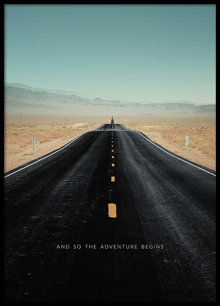 The Adventure Begins Poster in the group Prints / Nature at Desenio AB (3858)