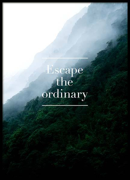 Escape The Ordinary Poster in the group Prints / Typography & quotes at Desenio AB (3860)