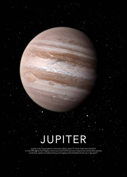 Jupiter Poster in the group Prints / Kids at Desenio AB (3869)