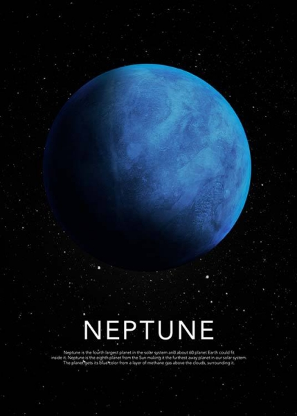 Neptune Poster in the group Prints / Sizes / 50x70cm | 20x28 at Desenio AB (3870)