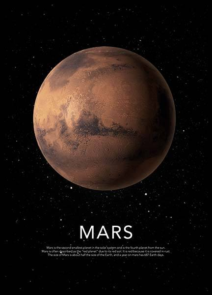 Mars Poster in the group Prints / Graphical at Desenio AB (3871)