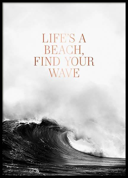 Life's A Beach Poster in the group Prints / Typography & quotes at Desenio AB (3873)