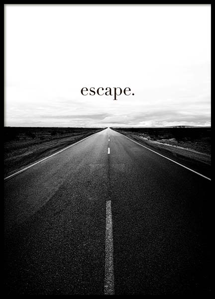 Road to Escape Poster in the group Prints / Text posters at Desenio AB (3877)