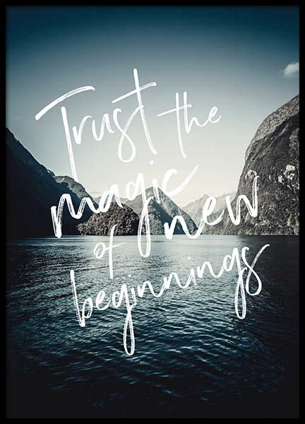 Trust The Magic Poster in the group Prints / Typography & quotes at Desenio AB (3880)