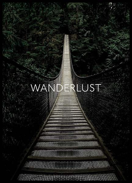 Wanderlust Away Poster in the group Prints / Text posters at Desenio AB (3882)