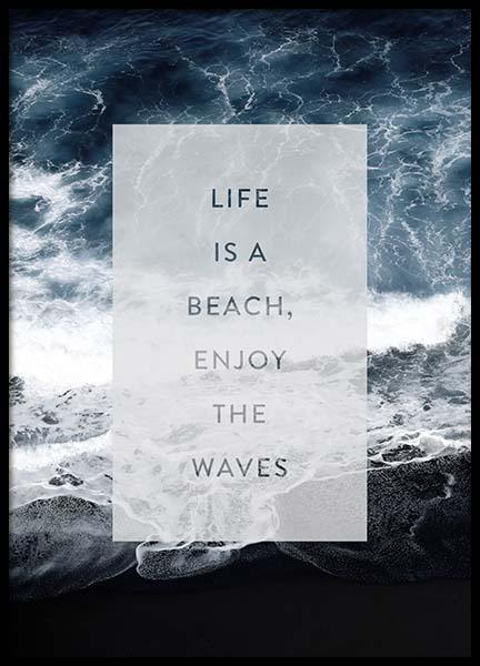 Enjoy the waves Poster in the group Prints / Sizes / 50x70cm | 20x28 at Desenio AB (3883)