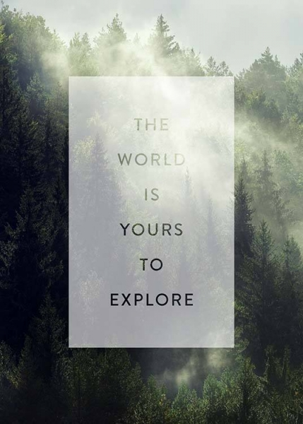 Yours To Explore Poster in the group Prints / Text posters at Desenio AB (3884)