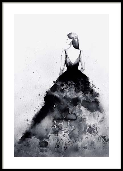 Dramatic Couture Poster in the group Prints / Illustrations at Desenio AB (3899)