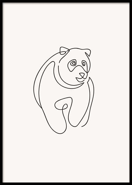 Bear Lines Poster in the group Prints / Illustrations at Desenio AB (3904)