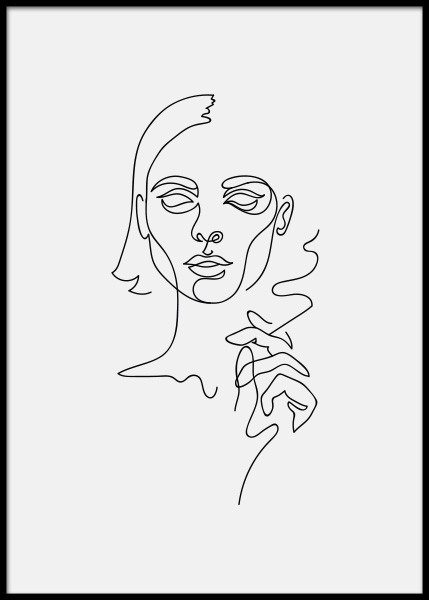 Smoking Girl Poster in the group Prints / Art prints at Desenio AB (3916)