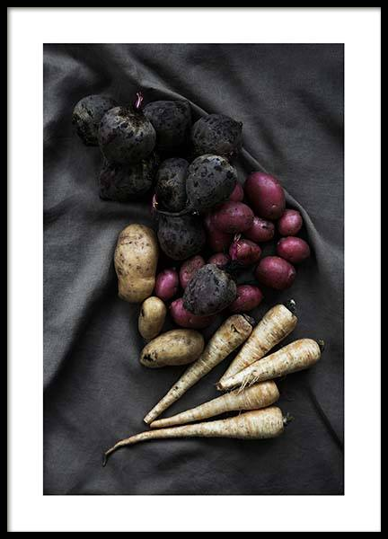 Vegetables From The Garden Poster in the group Prints / Kitchen at Desenio AB (3934)