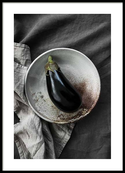 Eggplant Poster in the group Prints / Kitchen at Desenio AB (3936)