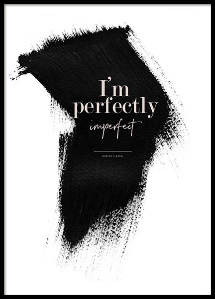 Perfectly Imperfect Poster in the group Prints / Typography & quotes at Desenio AB (3938)