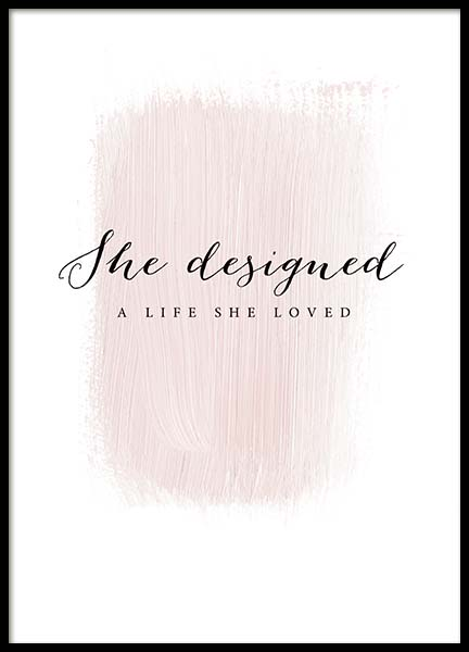 A Life She Loved Poster in the group Prints / Text posters at Desenio AB (3942)