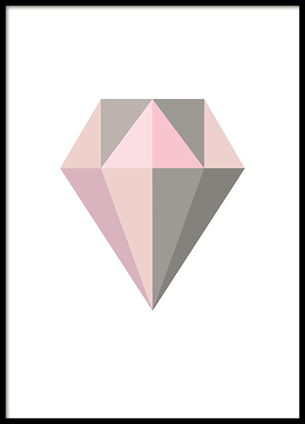 Graphic print with a diamond. Prints and posters online.