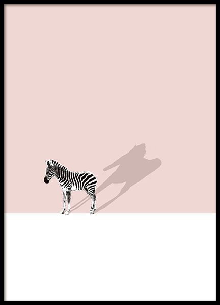 Print with a zebra for a modern interior design, shop online