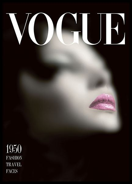 Prints with Vogue fashion magazine covers
