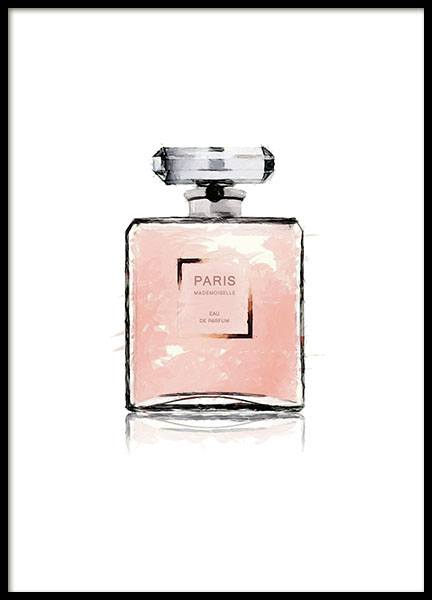 Chanel prints with perfume bottle, prints with Chanel perfume