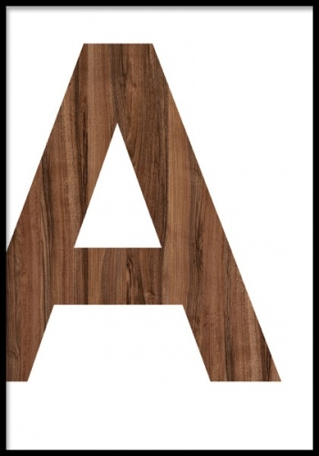Wooden A, Posters in the group Prints / Graphical at Desenio AB (7635, posters)