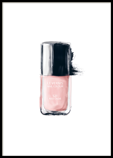 Print with nail polish and lipstick from Chanel. Chanel prints online.