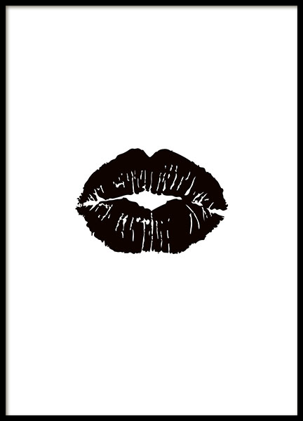 Print with black lips stylish posters and prints online for Cheap prints and posters